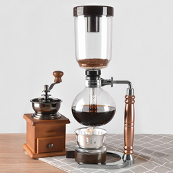 hot sale Japanese Style Siphon Coffee Maker Tea Siphon Pot Vacuum Coffeemaker Glass Type Coffee Machine Filter 3Cup