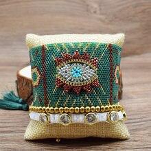 Rttooas турецкий счастливый сглаза очаровательные браслеты Женщины