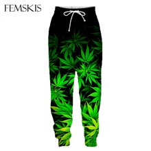 FEMSKIS New Hot Fashion 3D Beautiful Maple Leaf Pants Men Women Spring Loose Sweatpants Homme Casual Clothes Hip Hop Trousers