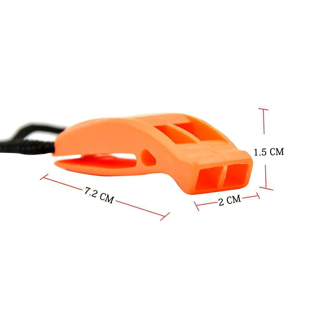 Plastic Safety Rescue Whistle for Multi Sports Hiking Diving Boating Rescue