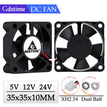 Gdstime 2 Pieces 35x35x10mm 35mm 3510 5V 12V 24V Brushless DC Cooling Cooler Fan 35mmx35mmx10mm 3.5cm Axial Mini Radiator Fan