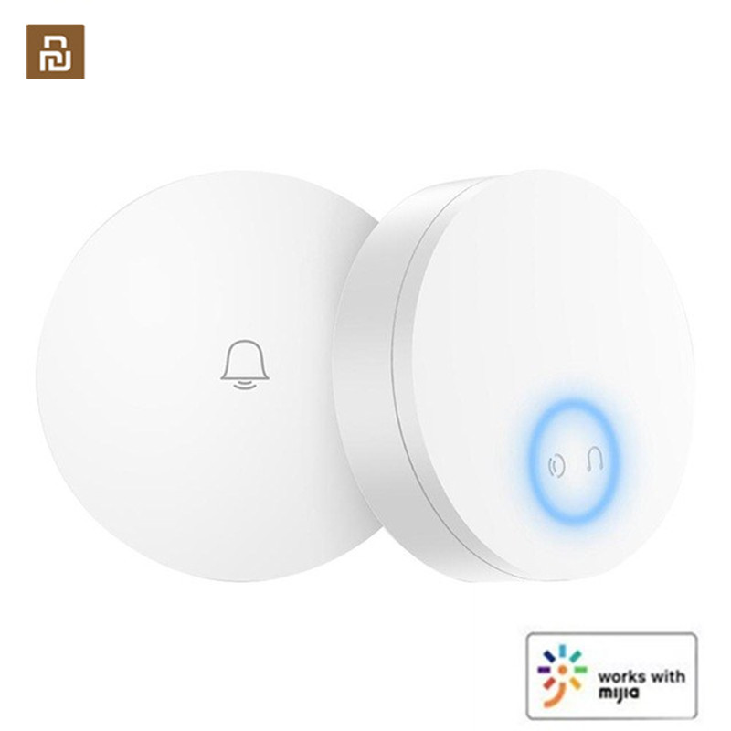 Linptech WIFI Self-power-generating Wireless Doorbell Work For Mijia APP Smart Control Memory Function AC 110-240V