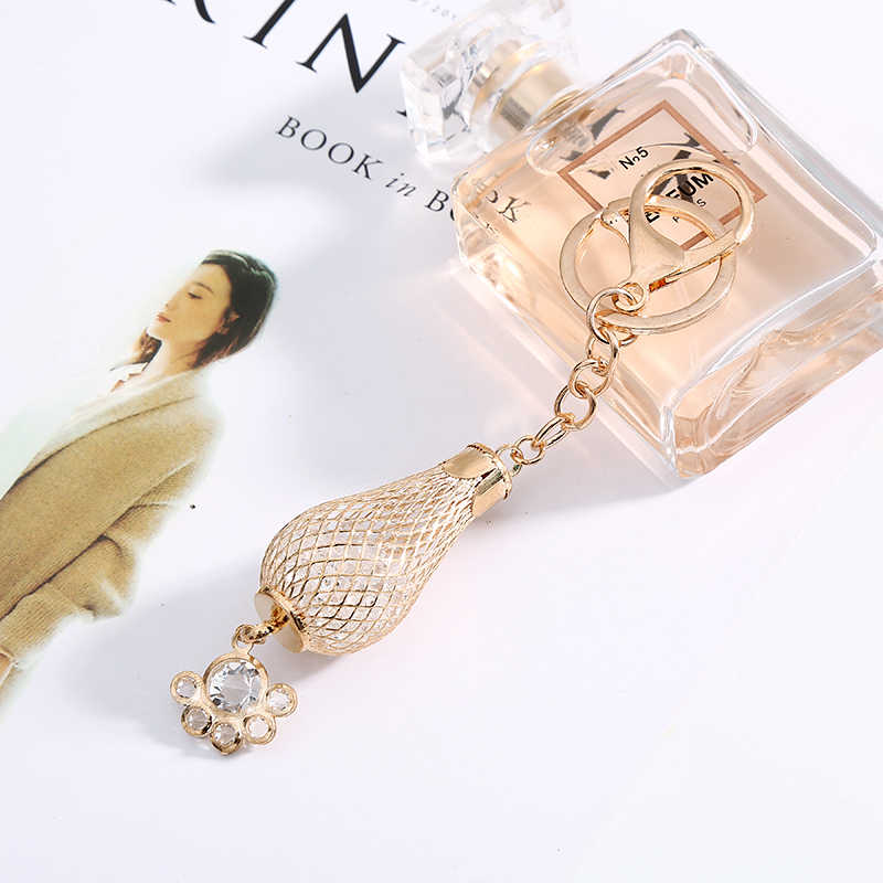 Chave Da Cadeia de Moda de luxo Mulheres Novo Design Titular Chaveiro Anel chave Chaveiros Saco Senhora Acessório Encantos Pingente de Jóias