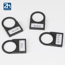 2PCS Indicator button button identification plate 22mm black side plug way