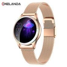 נשים חכם שעון קצב לב IP68 Waterproof פדומטר Bluetooth שעון שיחת תזכורת גשש כושר נשי Smartwatch אנדרואיד