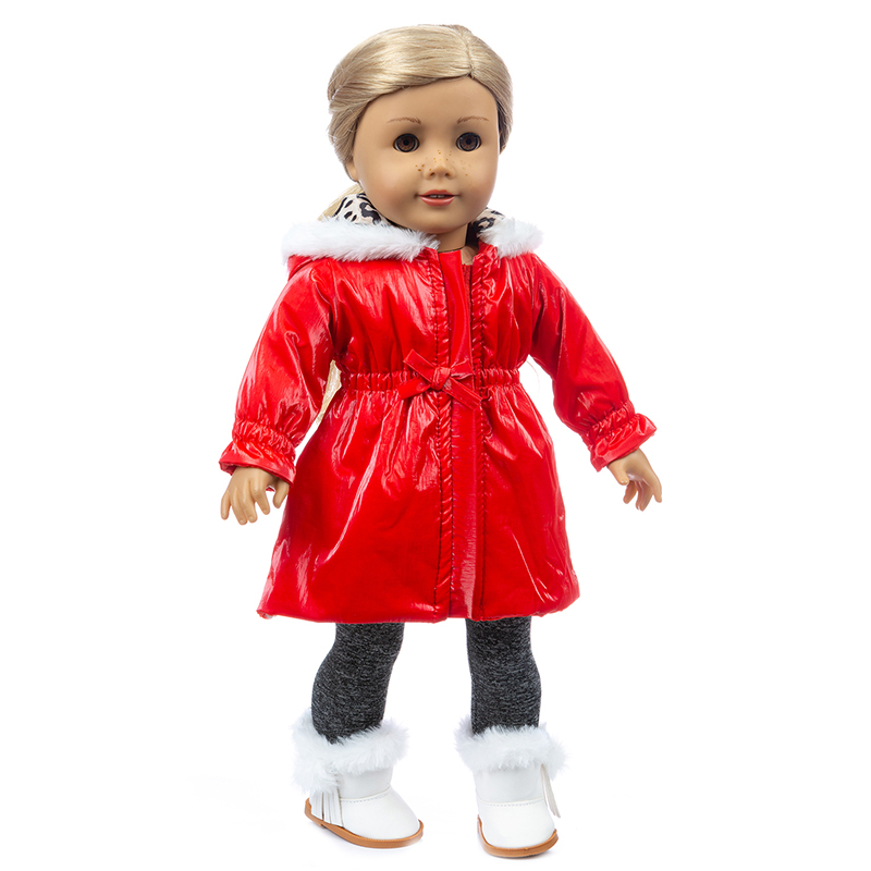 Doll Clothes 43cm Baby New Born Doll Dress 18 Inch American Generation Alexander Girl Doll Coat Best Gift image