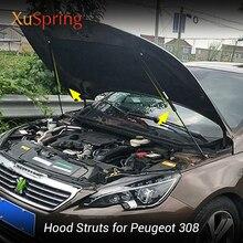 For Peugeot 308 T9 2013 2019 Car Bonnet Hood Support Hydraulic Rod Strut Bars Lift Spring Shock Bracket Car styling
