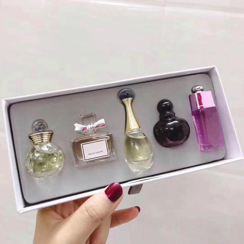1Set 5ml*5Pcs Perfume For Women Spray Deodorant Female Long Lasting Flower Original Parfum Glass Bottle Sexy Lady Fragrances