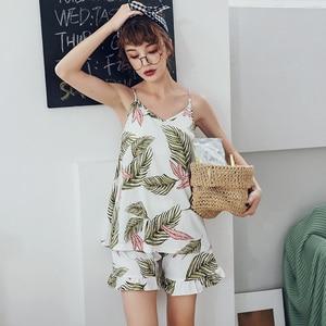 Image 5 - Bzelホット販売pijamas女性かわいいツーピースセットパジャマ新夏のスタイリッシュな女性のパジャマ綿パジャマビッグサイズ寝間着3XL