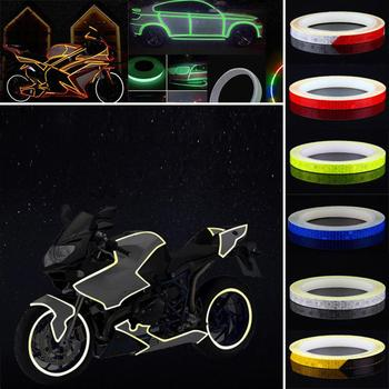 Reflective Sticker Tape Car Motorcycle Bike Truck Body Stripe DIY Self Adhesive Decal Decor Reflective Strip image
