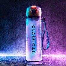 Water-Bottle Sport-Shaker Lemon-Juice Plastic Fitness Bpa-Free Leakproof 500ML Fruit
