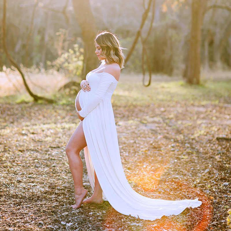Mutterschaft Kleider Für Foto Schießen Chiffon Schwangerschaft Kleid Fotografie Requisiten Maxi Kleid Kleider Für Schwangere Frauen Kleidung 2020
