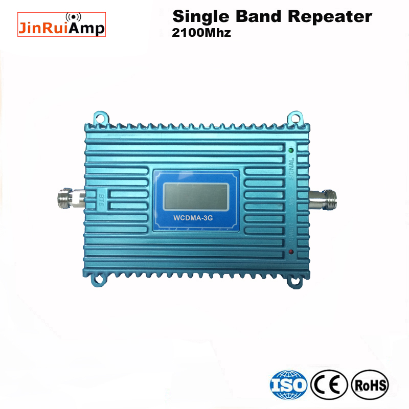 New Mobile 3G Signal Booster 3g Signal Repeater Amplifier,LCD Display Mini 70db 3G LTE WCDMA UMTS 2100Mhz 3G Repeater