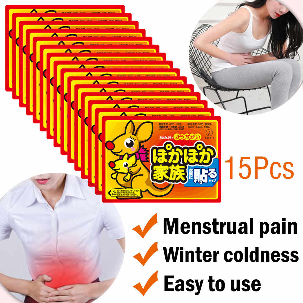 15 Packs Hot stickers Body Warmer paste Stick Lasting Heat Patch Winter Keep Body Warm Paste Pads last 10 hours