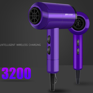 Image 1 - Secador de pelo profesional iónico de bajo ruido, viento frío/caliente, con cepillo, enchufe de 3200W, CA 220V