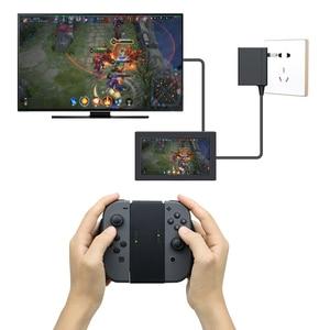 Image 4 - Konfor kavrama kolu braketi NS nintendo anahtarı için plastik tutucu anahtarı konsolu destek tutucu şarj cihazı