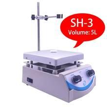 Laboratorium w nowym stylu SH-3 płyta grzejna mieszadło magnetyczne 5000ml objętość z podwójnym sterowaniem i 1 Cal mieszadło 110V / 220V