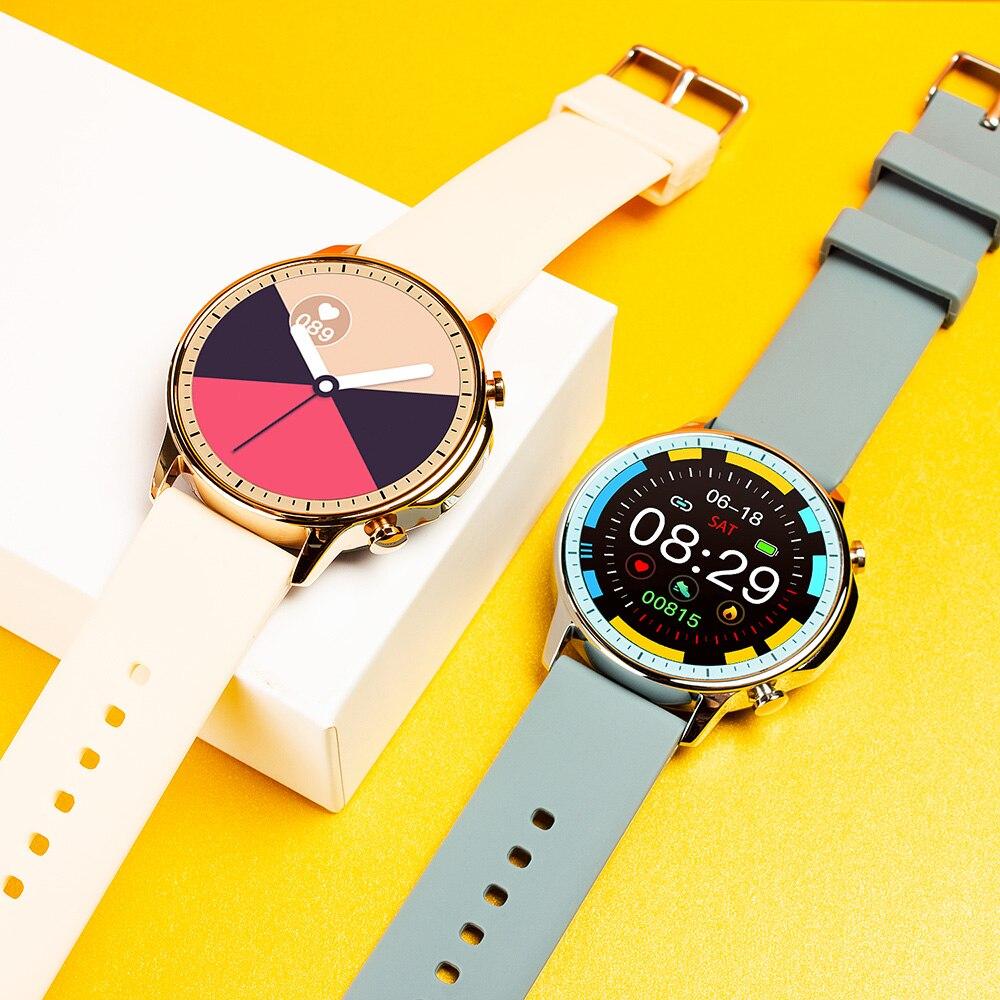 H9110e87923a4438fabe55aab42693993T COLMI V23 Women Smart Watch Full Touch Fitness Tracker IP67 Waterproof Blood Pressure Smart Clock Men Smartwatch