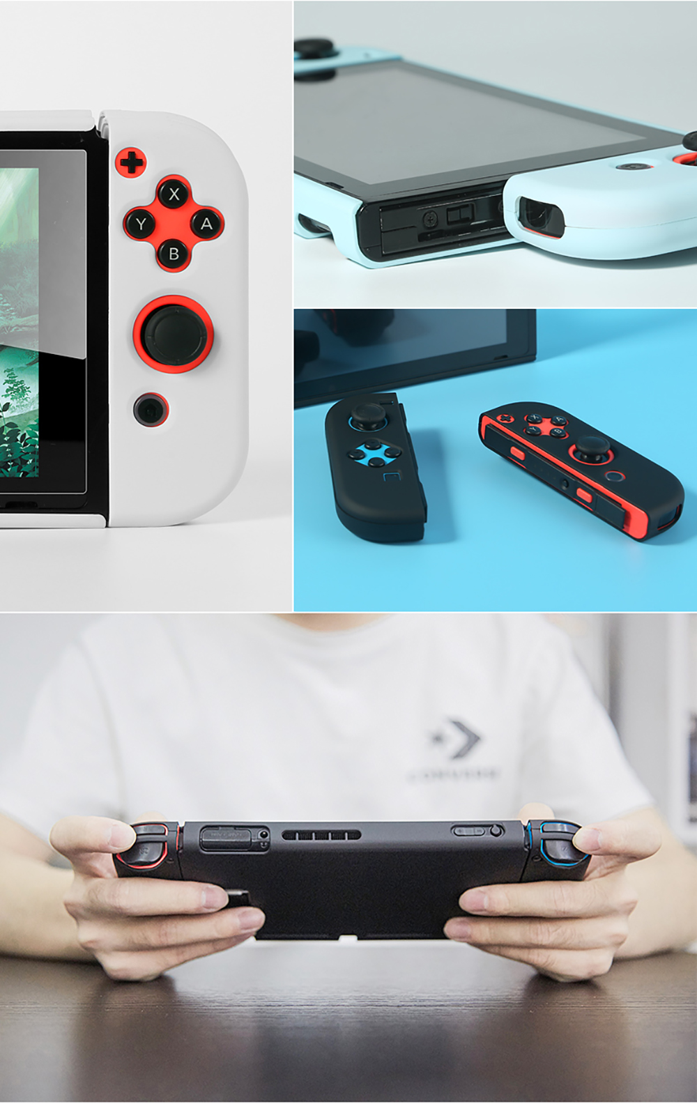 Protective Case Joy Con Controller Shell Hard Housing Full Cover Shell For Nintend Switch (14)