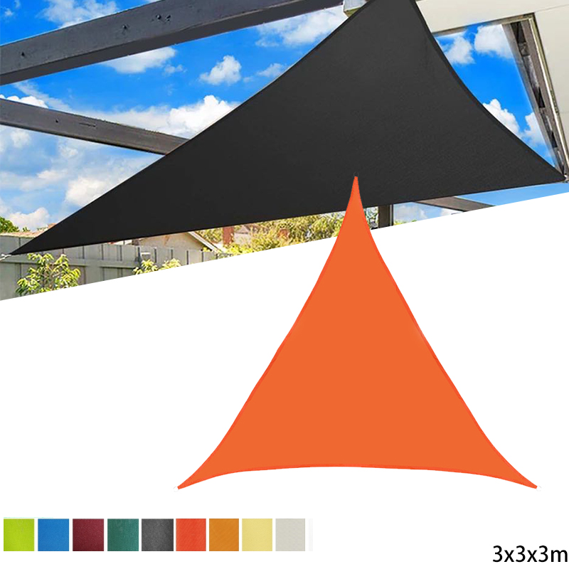 3x3x3m Waterproof Sun Shelter Sunshade Protection Outdoor Canopy Garden Patio Pool Shade Sail Awning Camping Tent Cloth