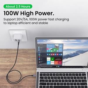 Image 3 - Pd 100ワットusb c usbタイプcケーブルxiaomi redmi注8プロ急速充電4.0高速macbook proの充電データケーブルコード