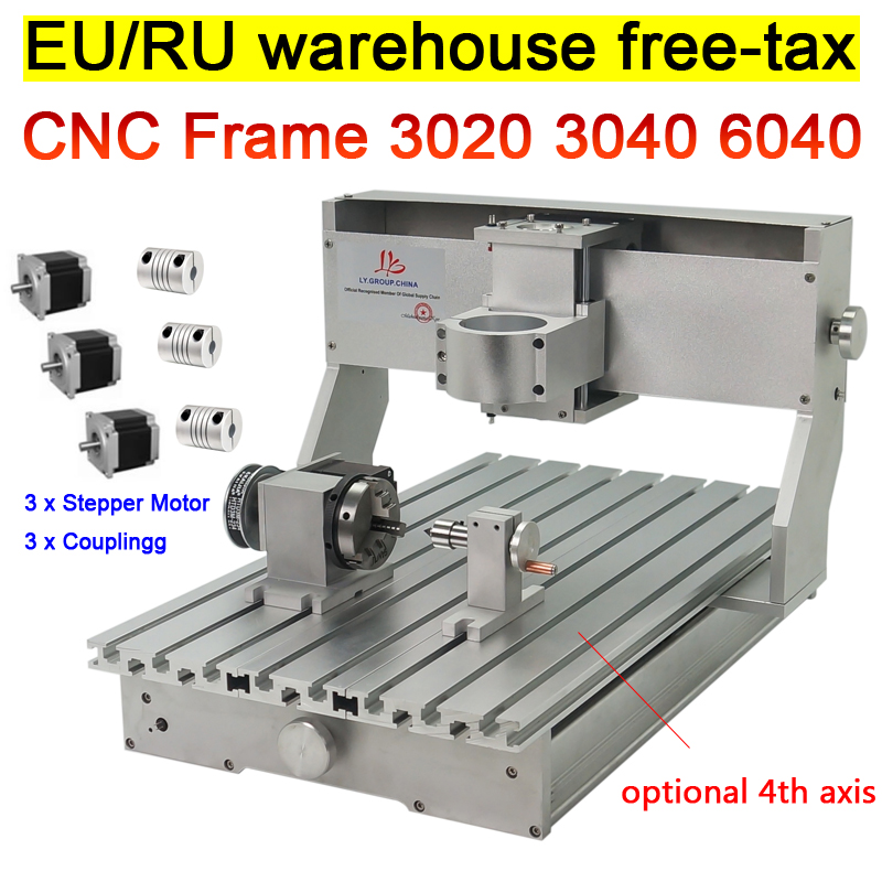 DIY CNC Router 3020 3040 6040 Frame kit engraving wood milling machine bed lathe ball screw  with rotary axis