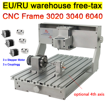 DIY CNC Router 3020 3040 6040 Frame kit engraving wood milling machine bed lathe ball screw  with rotary axis 4 axis cnc 6040 z s80 engraver router milling lathe machine with rotary axis and 1 5kw spindle four axis cnc6040 for 3d cnc