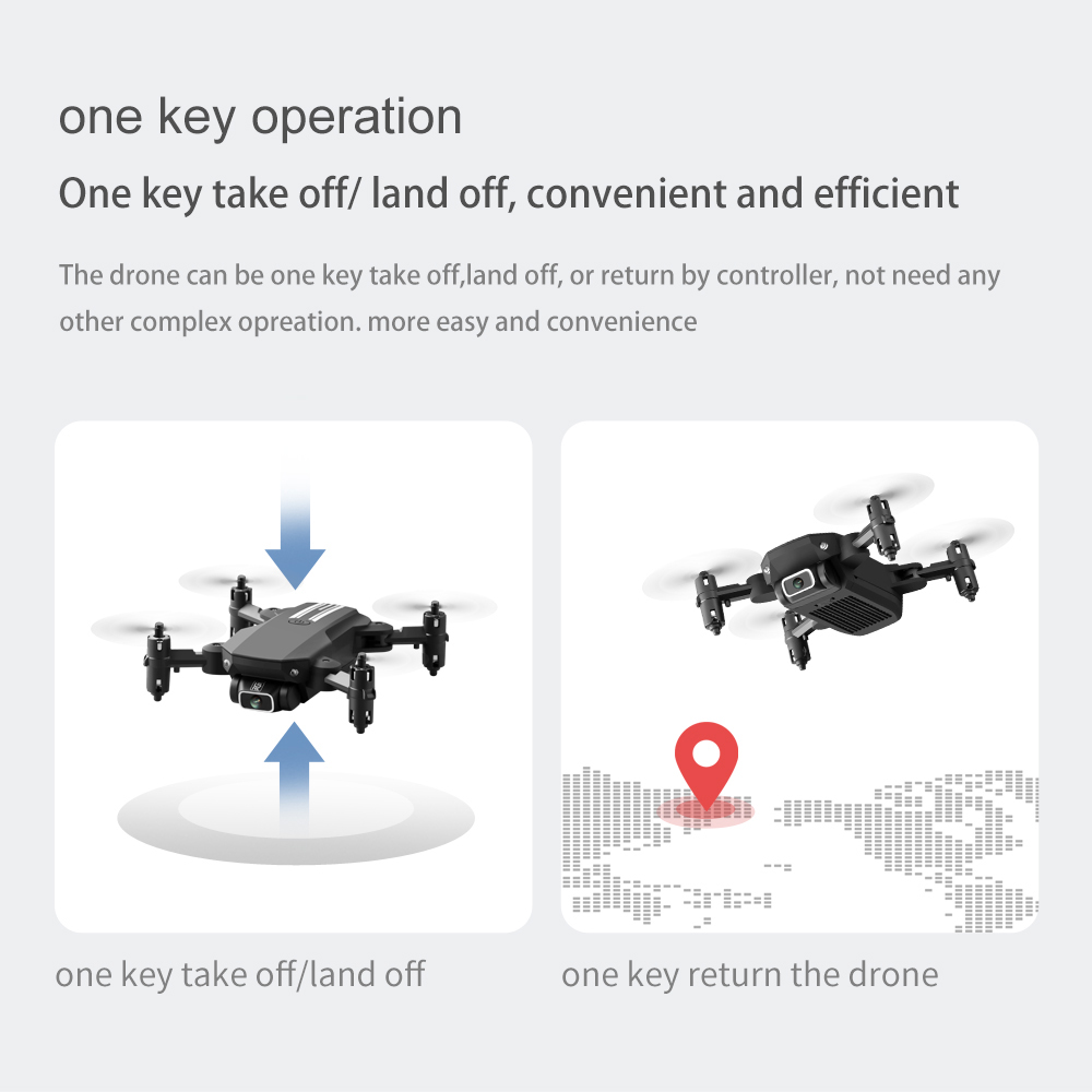 2020 NEW RC drone 4k HD wide angle camera wifi fpv drone height keeping drone with camera mini drone video live rc quadcopter 3