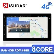 Isudar H53 4G Android 2 Din Auto Radio For Nissan/Xtrail/Tiida/Hyundai/KIA Car Multimedia GPS 8 Core RAM 4GB ROM 64GB Camera DVR