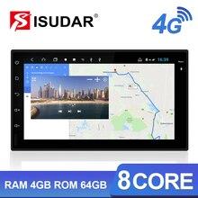 Rádio automático do ruído de isudar h53 4g android 2 para nissan/xtrail/tiida/hyundai/kia carro multimídia gps 8 núcleo ram 4gb rom 64gb câmera dvr