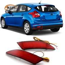 Hoge Qaulity 2Pc Led Rear Bumper Reflector Voor Ford Focus 3 Hatchback 2012 2011 2013 2014 Licht Waarschuwing Tail brake Lamp