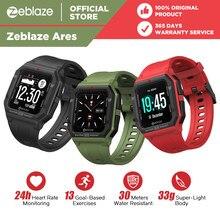 Novo 2021 zeblaze ares relógio inteligente bluetooth smartwatch wr 30m coração rate15days bateria vida amazfit neo para xiaomi telefone