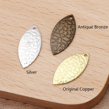 20pcs 13x19mm Vintage Leaf Charms Pendants Necklace Bracelet Earring Making Accessories for Jewelry Making Handmade Craft DIY 2020 natural shells pendants charms for jewelry making necklace pendant diy bracelet necklaces accessories size 20x32mm