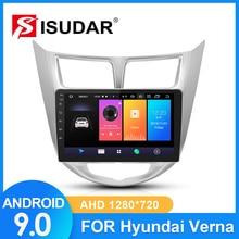 ISUDAR Radio del coche para Hyundai/Solaris/Verna/acento 2 din Android 9 Autoradio Multimedia GPS RAM 2GB ROM 32GB USB DVR AHD Cámara