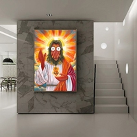 Futuramaes Zoidberges Jesús impresiones de la lona arte de pared imagen Modular pinturas para póster para el salón en la decoración de pared de casa