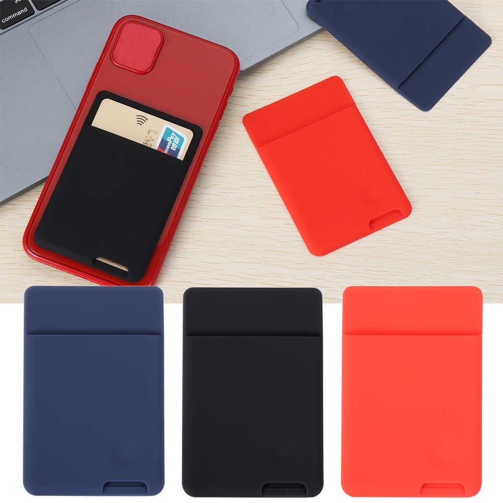 1PC Universal Ponsel Dompet Case Menempel Pada Identitas Pemegang Kartu Kredit Silikon Self-Perekat Ponsel Saku Stiker Kartu tas Dompet