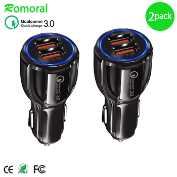 Quick Charge 3.0 Car Charger For Mobile Phone Dual Usb Car Charger  Qc 3.0 Fast Charging Adapter Mini Usb Car Charger car usb charger quick charge 3 0 2 0 mobile phone charger dual usb fast charging adapter for samsung iphone tablet car charger