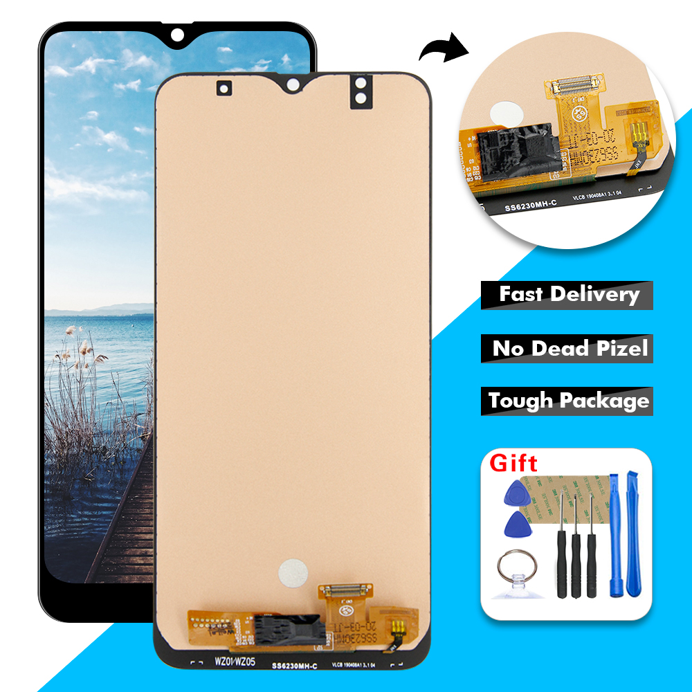 """6.4"""" Display For Samsung Galaxy A50 A505 A505F/DS A505FD A505F A505A LCD Display Touch Screen Digitizer Glass Assembly + Frame"""