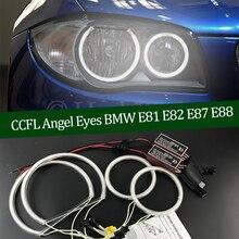 Комплект высококачественных галогенных фар CCFL «ангельские глазки» с теплым белым кольцом ореола для BMW 1 серии E81 E82 E87 E88