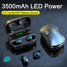 TWS Wireless Earphones Waterproof 6D Stereo Headsets Bluetooth 5.0 Touch Control Earbuds