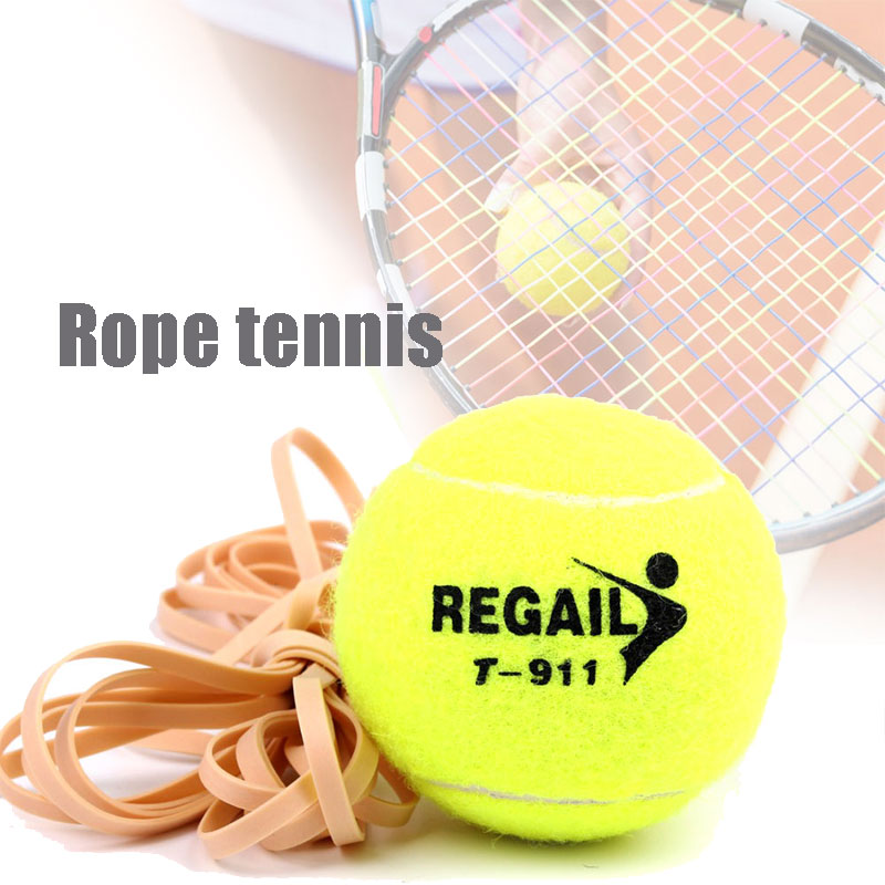 Tennis Ball Training With String Trainer Practice