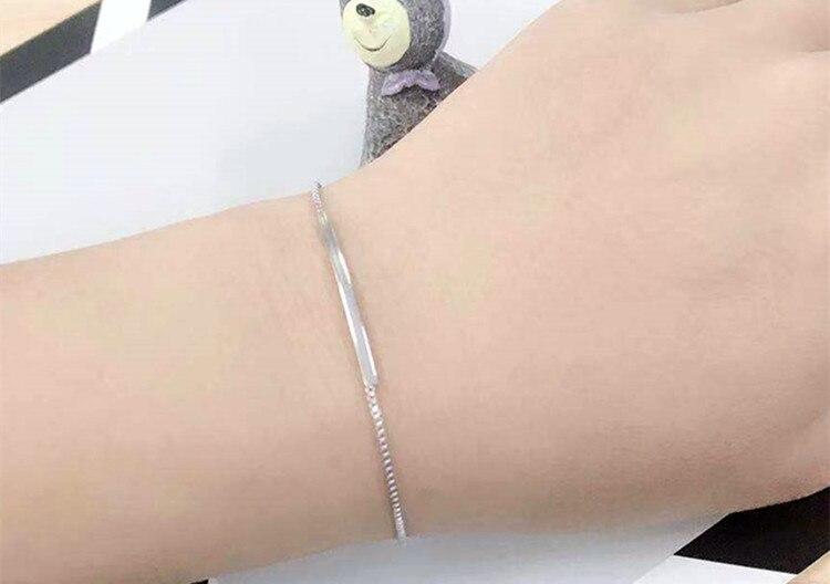 Gelang Rantai Perak 925 Sterling Perak Sterling Perak Murni 925 - Perhiasan fesyen - Foto 6