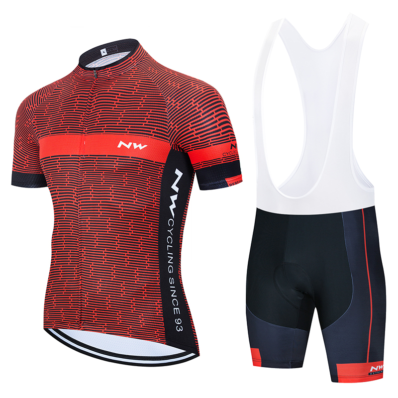 NW 2019 Summer Cycling Jersey Short Sleeve Set Bike Bicycle Clothing Ropa Ciclismo Uniformes Cycle Clothes Maillot Bib Shorts #7