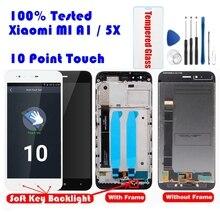 Dla Xiaomi Mi A1 wyświetlacz LCD + ekran ramki 10 Panel dotykowy MiA1 Mi5X wyświetlacz LCD Digitizer ekran dotykowy części zamienne do napraw