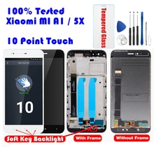 For Xiaomi Mi A1 LCD Display + Frame Screen 10 Touch Panel MiA1 Mi5X LCD Display Digitizer Touch Screen Repair Spare Parts