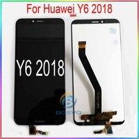 Para huawei y6 2018 tela lcd y6 prime 2018 atu l11 l21 l22 lx1 lx3 l31 l42 com montagem de toque peças reparo substituição
