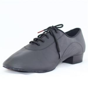 Image 2 - ชายมาตรฐานเต้นรำรองเท้าBD 309 บอลรูมเต้นรำรองเท้าหนังนุ่มDancesportแยกSoleโมเดิร์นสีดำรองเท้าNappedหนังSole