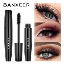 Banxeer volume fofo rímel maquiagem 4d fibra de seda lash rímel à prova d3d água rimel 3d extensão rímel grosso longo ondulação cílios