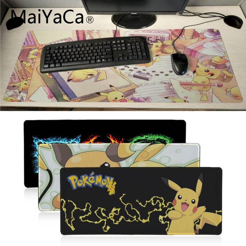 MaiYaCa Pokemons DIY Design Pattern Game mousepad XXL Mouse Pad Laptop Desk Mat pc gamer completo for lol/world of warcraft 1
