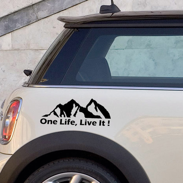 Personnalité une vie la vivre! Offroad , Offroader montagne voiture autocollants accessoires moto couverture rayures PVC 20cm * 8cm